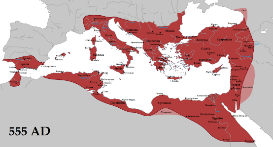 Late Roman Empire Map.Byzantine Period In Asia Minor