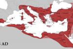 Byzantine Empire in AD 555